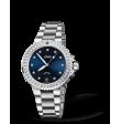 Reloj azul Oris Aquis Date Diamonds 01 733 7731 4995-07 8 18 05P automático de acero para mujer