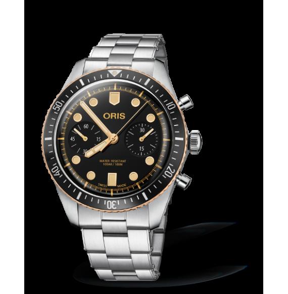 Reloj acero Oris Divers Sixty-Five 01 771 7744 4354-07 8 21 18 automático con cronógrafo de hombre