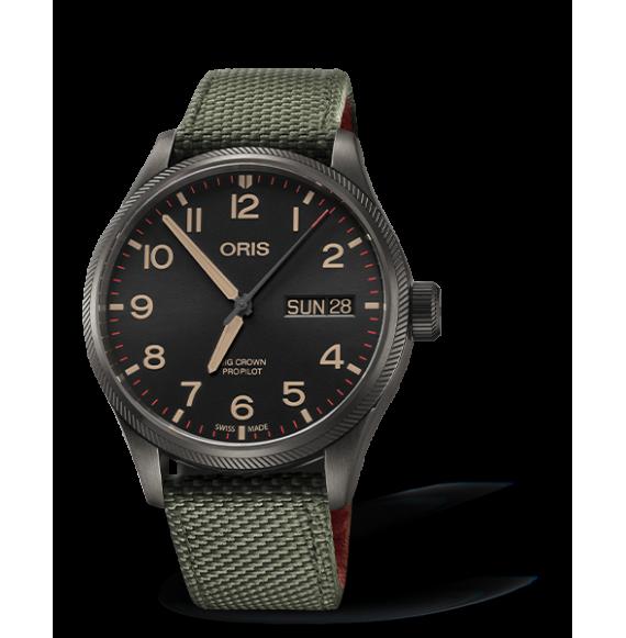 Reloj verde militar Oris 40TH Squadron Edición Limitada 01 752 7698 4274-07 3 22 03GFC automático de acero para hombre