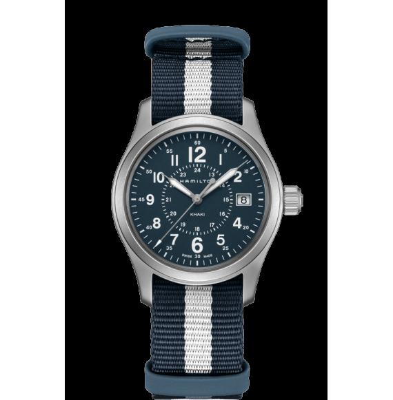 Reloj bicolor Hamilton Khaki Field H68201043 cuarzo de acero inoxidable unisex