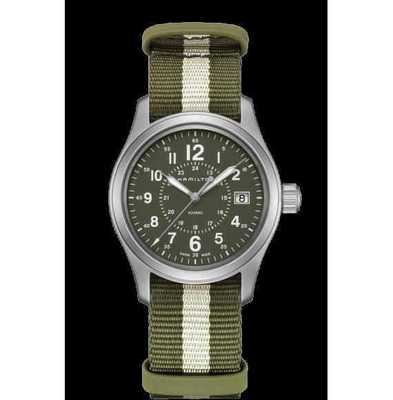 Reloj bicolor Hamilton Khaki Field H68201063 cuarzo de acero inoxidable unisex