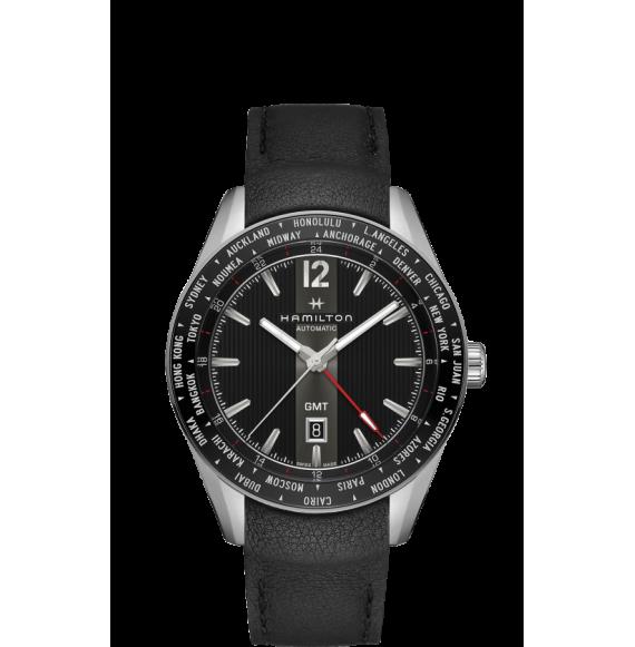 Reloj negro Hamilton Broadway GMT Edición Limitada H43725731 automático de acero para hombre