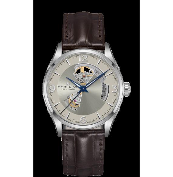 Reloj Hamilton Jazzmaster Open Heart Auto H32705521 marrón acero hombre