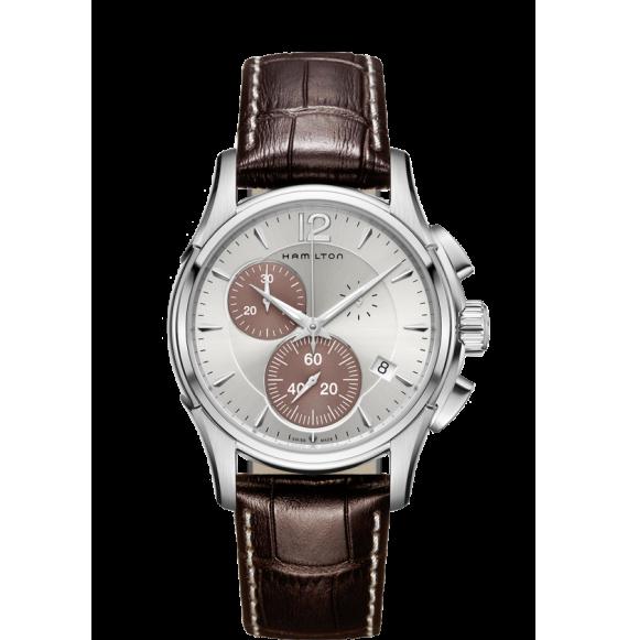 Reloj Hamilton Jazzmaster Chrono Quartz H32612551 marrón acero inoxidable hombre