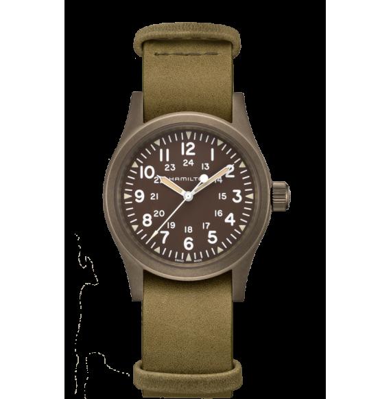 Reloj Hamilton Khaki Field Mechanical H69449861 verde acero mujer
