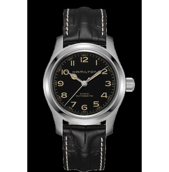 Reloj Hamilton Khaki Field Murph Auto H77765541 negro acero hombre