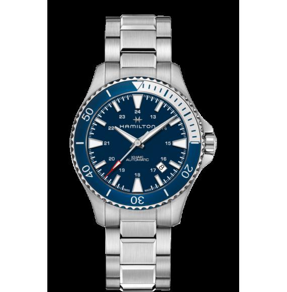 Reloj Hamilton Khaki Navy Scuba Auto H82345141 azul acero hombre