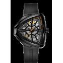 Reloj Hamilton Ventura Skeleton Auto Edición Limitada negro de acero para hombre