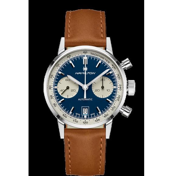 Reloj Hamilton American Classic Intra-Matic Auto Chrono H38416541 marrón acero hombre