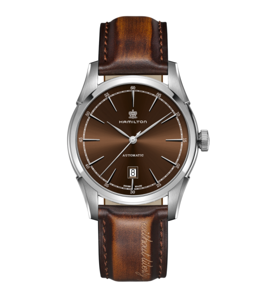 Reloj Hamilton American Classic Spirit of Liberty Auto H42415501 marrón acero hombre