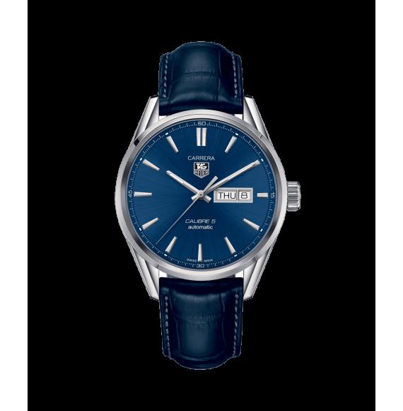 Reloj Tag Heuer Carrera Calibre 5 Day-Date WAR201C.FC6266  automático de acero para hombre