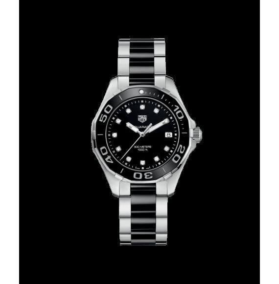 Reloj Tag Heuer Aquaracer Cuarzo WAY131C.BA0913 de acero con diamantes para mujer