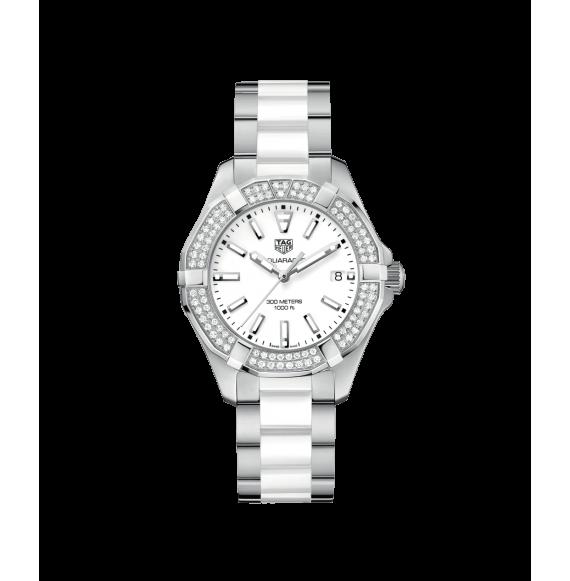 Reloj Tag Heuer Aquaracer Cuarzo WAY131F.BA0914 de acero con diamantes para mujer