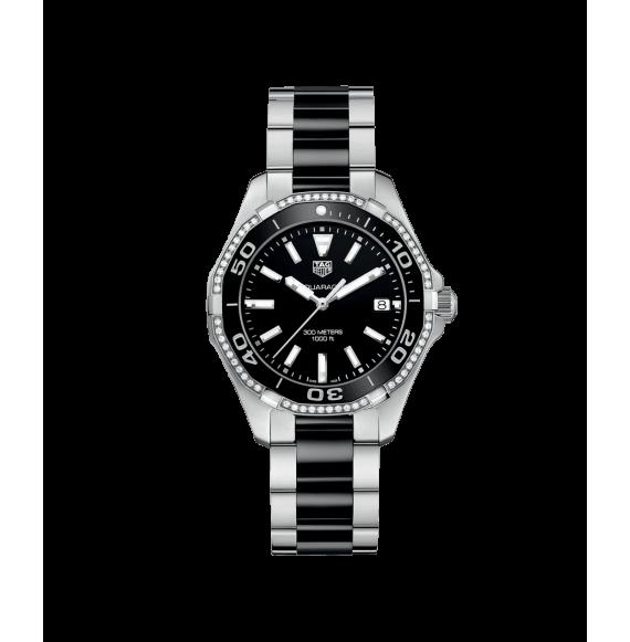 Reloj Tag Heuer Aquarecer Cuarzo WAY131G.BA0913 de acero con diamantes para mujer