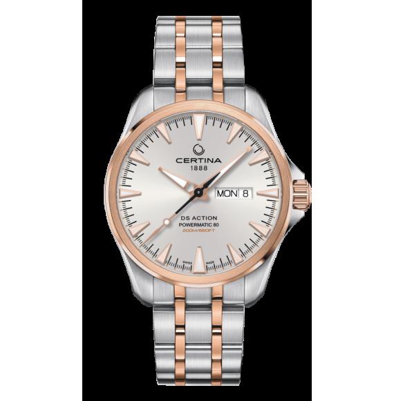 Reloj Certina DS Action Day-Date Powematic 80 C032.430.22.031.00 Automático de acero para hombre