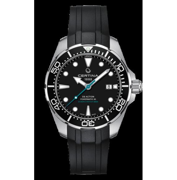 Reloj Certina Aqua DS Action Diver Powematic 80 C032.407.17.051.60 Automático de acero para hombre