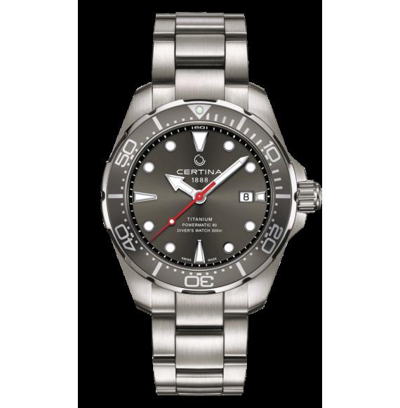 Reloj Certina Aqua DS Action Diver Powematic 80 C032.407.44.081.00 Automático de titanio para hombre