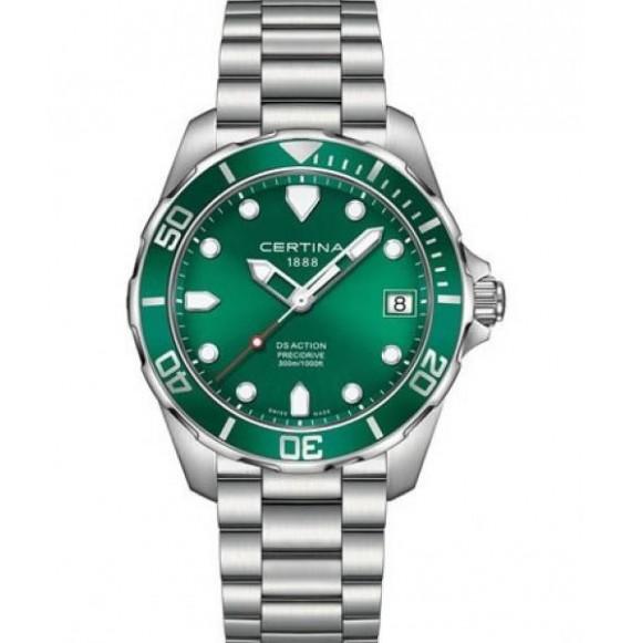 Reloj Certina Aqua DS Action Precidrive C032.410.11.091.00 Cuarzo de acero para hombre