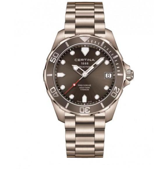 Reloj Certina Aqua DS Action Precidrive C032.410.44.081.00 Cuarzo de titanio para hombre