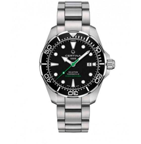 Reloj Certina Aqua DS Action Diver Powermatic 80 C032.407.11.051.02 Automático de acero para hombre