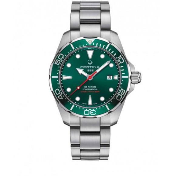 Reloj Certina Aqua DS Action Diver Powermatic 80 C032.407.11.091.00 Automático de acero para hombre