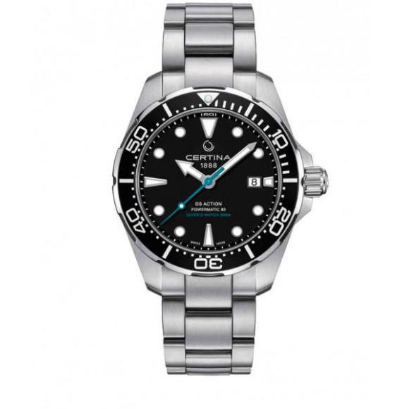 Reloj Certina Aqua DS Action Diver Powermatic 80 C032.407.11.051.10 Automático de acero para hombre