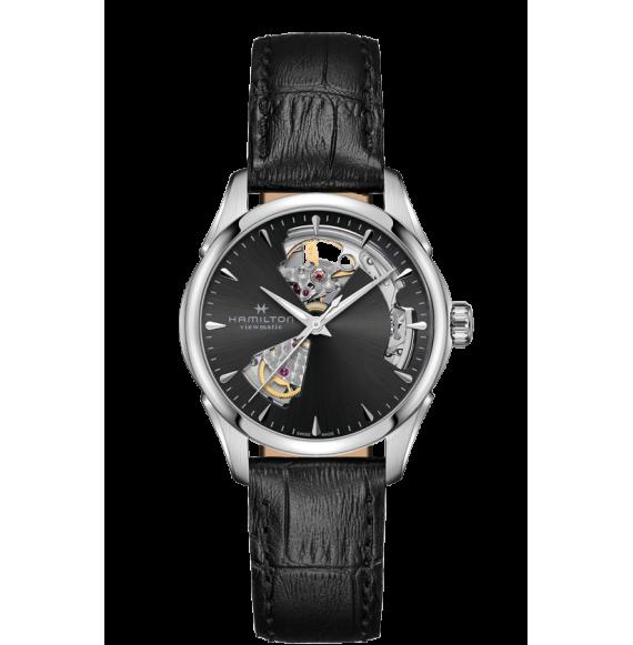 Reloj Hamilton Jazzmaster Open Heart H32215730 Automático de acero para mujer