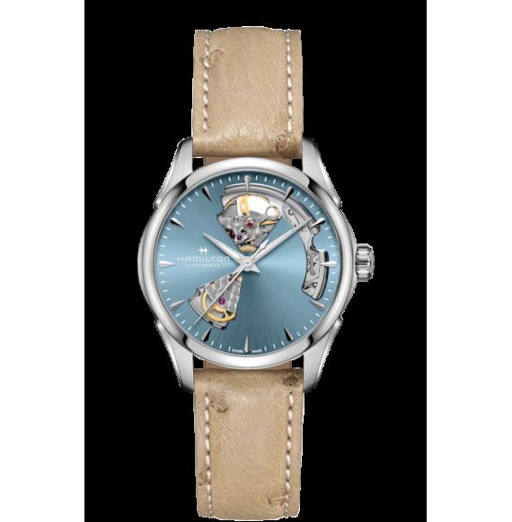 Reloj Hamilton Jazzmaster Open Heart H32215840  Automático de acero para mujer