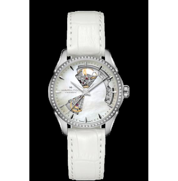 Reloj Hamilton Jazzmaster Open Heart H32205890 Automático con diamantes para mujer