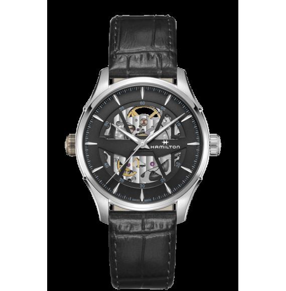 Reloj Hamilton Jazzmaster Skeleton H42535780 Automático de acero para hombre
