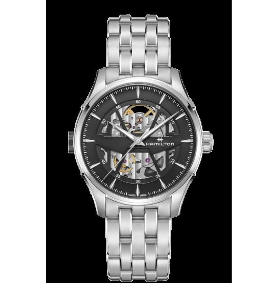 Reloj Hamilton Jazzmaster Skeleton H42535180 Automático de acero para hombre