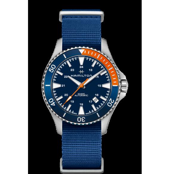 Reloj Hamilton Khaki Navy Scuba H82365941 Automático de acero con bisel bicolor para hombre