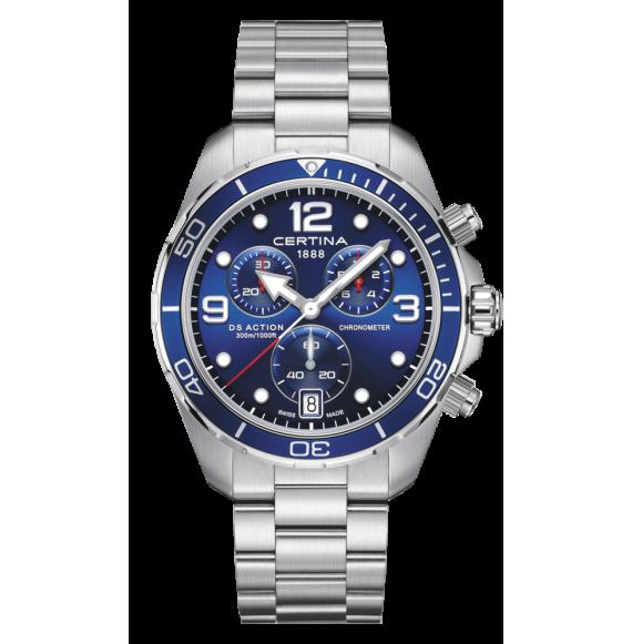 Reloj Certina Aqua DS Action Cronograph C032.434.11.047.00 Cuarzo de acero para hombre
