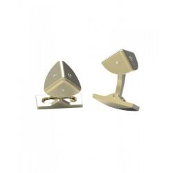 GEMELOS S.T. DUPONT COINS GOLD PVD DIAMONDS