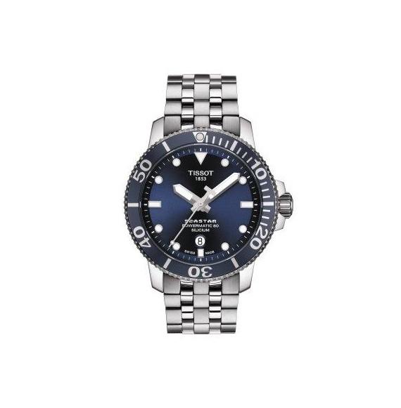 Reloj Tissot Seastar 1000 Powermatic 80 Silicium T120.407.11.041.01 automático para hombre