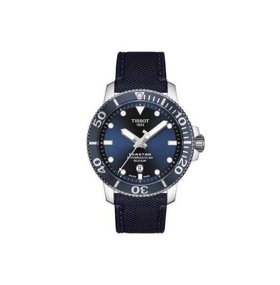 Reloj Tissot T-Sport Seastar 1000 Powermatic 80 Silicium T120.407.17.041.01 automático para hombre