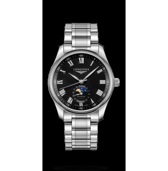 Reloj Longines Master Collection L2.909.4.51.6 automático con fases lunares para hombre