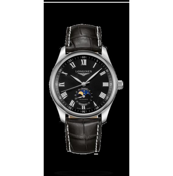 Reloj Longines Master Collection L2.909.4.51.7 automático con fases lunares para hombre