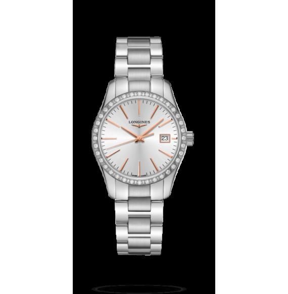 Reloj Longines Conquest Classic  L2.386.0.72.6 cuarzo para mujer
