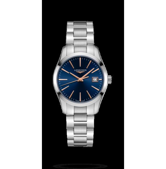 Reloj Longines Conquest Classic L2.386.4.92.6 cuarzo para mujer