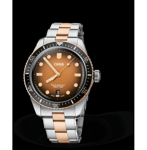 Reloj Oris Divers Sixty-Five 01 733 7707 4356-07 8 20 17 automático de acero y bronce para hombre