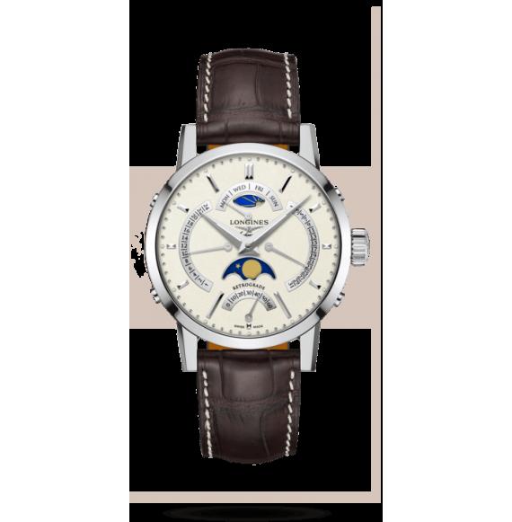 Reloj Longines 1832 automático L4.828.4.92.2 con 24 horas para hombre