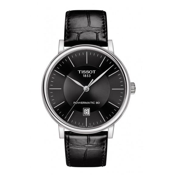 Reloj Tissot T-Classic Carson Premium Powermatic 80  T122.407.16.051.00 Automático para hombre