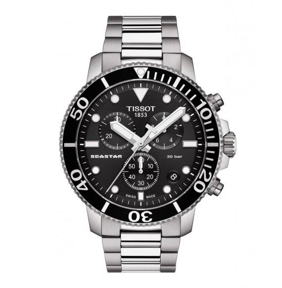 Reloj Tissot Seastar 1000 Chronograph T120.417.11.051.00 Cuarzo de acero para hombre