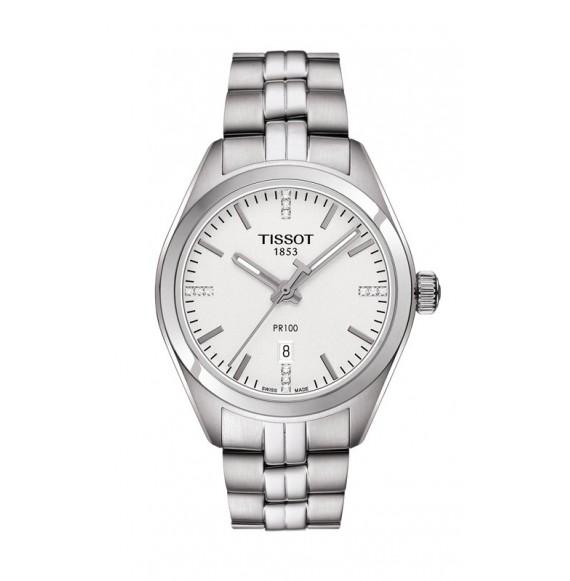Reloj Tissot T-Classic PR 100 Lady T101.210.11.036.00 Cuarzo con diamantes para mujer