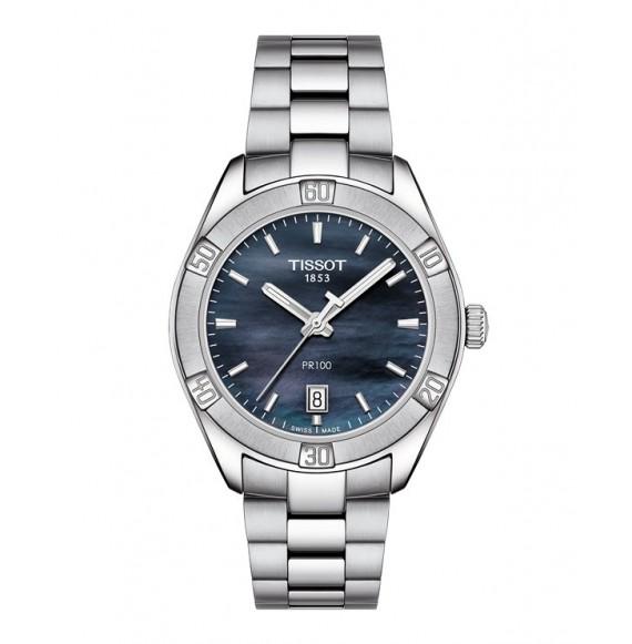 Reloj Tissot PR 100 Sport Chic T101.910.11.121.00 Cuarzo de acero para mujer