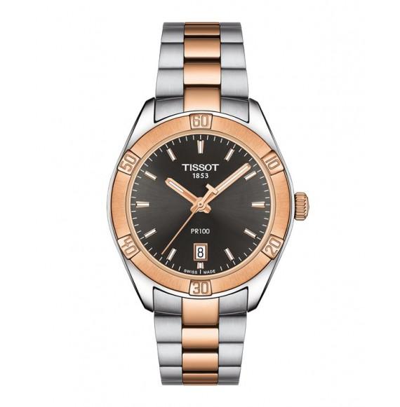 Reloj Tissot PR 100 Sport Chic T101.910.22.061.00 Cuarzo de acero para mujer