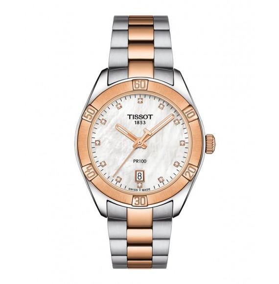 Reloj Tissot PR 100 Sport Chic T101.910.22.116.00 Cuarzo con diamantes para mujer