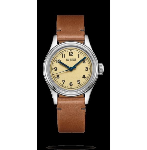 reloj Longines Heritage Military Marine Nationale  L2.833.4.93.2 automático de acero para hombre