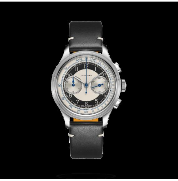 Reloj Longines Heritage Classic Chronograph –Tuxedo L2.830.4.93.0 automático de acero para hombre